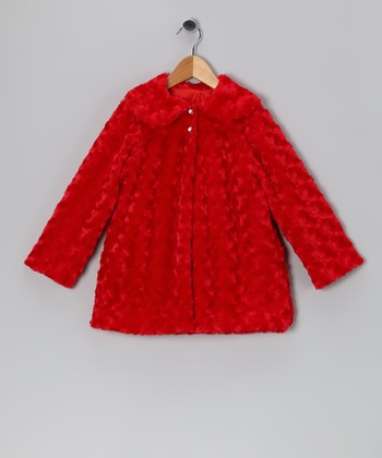 Red Minky Jacket - Infant, Toddler & Girls