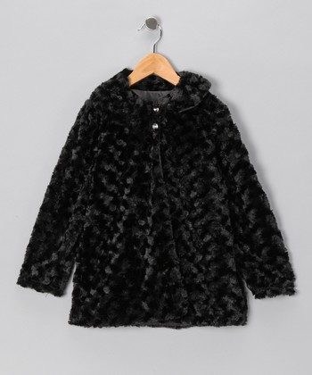 Black Minky Jacket - Infant, Toddler & Girls