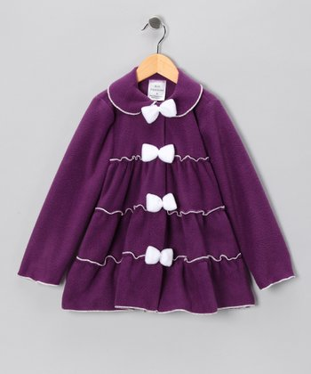 Kid Fashion Plum Tiered Jacket - Infant, Toddler & Girls