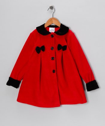 Kid Fashion Red & Black Bow Jacket - Infant, Toddler & Girls