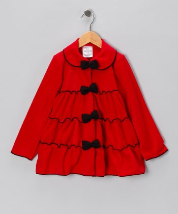 Kid Fashion Red Tiered Jacket - Infant, Toddler & Girls