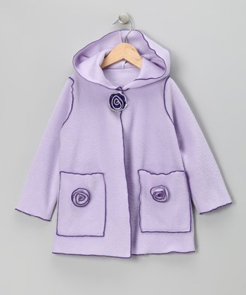 Lilac Flower Fleece Jacket - Infant, Toddler & Girls