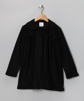 Black Bow Fleece Jacket - Infant, Toddler & Girls