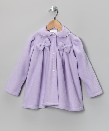Lilac Bow Fleece Jacket - Infant, Toddler & Girls