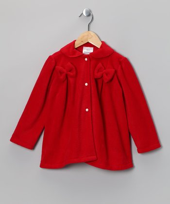 Red Bow Fleece Jacket - Infant, Toddler & Girls