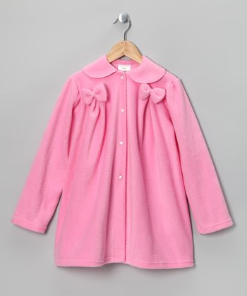 Pink Bow Fleece Jacket - Infant, Toddler & Girls