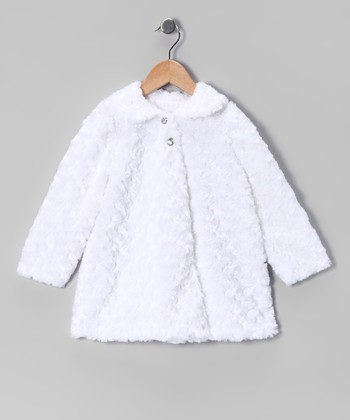 White Minky Jacket - Infant, Toddler & Girls