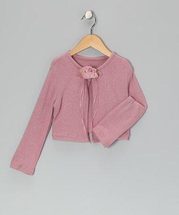 Dusty Rose Flower Bolero - Toddler & Girls