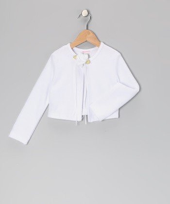 White Flower Bolero - Toddler & Girls
