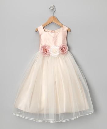 Dusty Rose Silk Dress - Girls