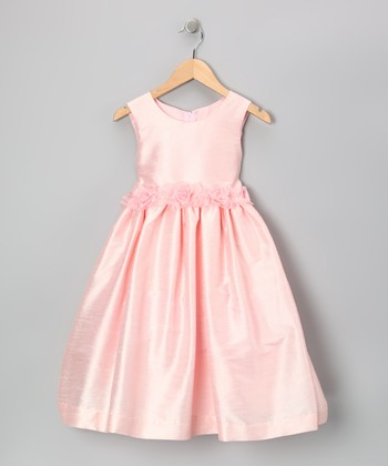 Pink Flower Tie Dress - Toddler & Girls