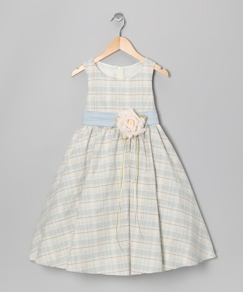 Blue Plaid Vintage Dress - Toddler & Girls