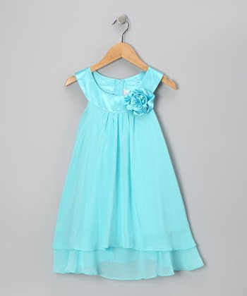 Pool Flower Yoke Dress - Toddler & Girls