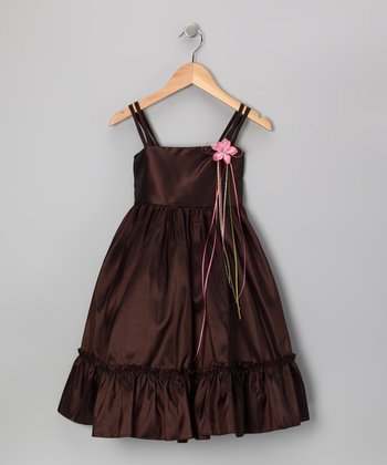 Chocolate Ruffle A-Line Dress - Toddler & Girls