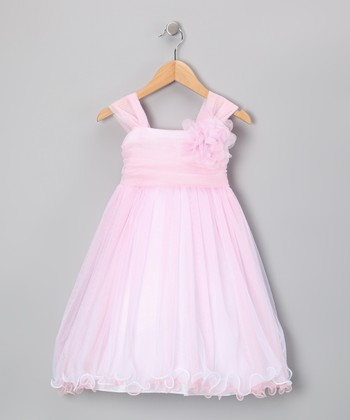Pink Layered Flower Dress - Toddler & Girls