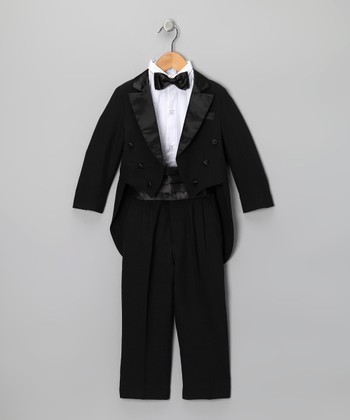 Black Tailcoat Tuxedo Set - Infant, Toddler & Boys