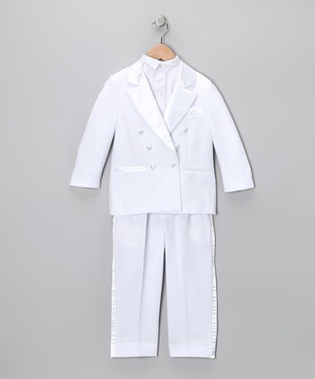 White Tuxedo Set - Infant, Toddler & Boys