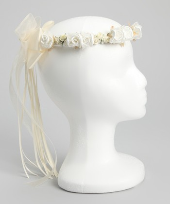 Ivory Flower Bow Halo