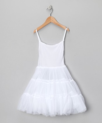 White Full Petticoat - Toddler & Girls
