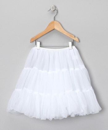 White Half Petticoat - Toddler & Girls