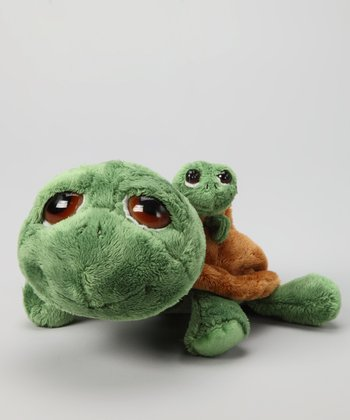 Li'l Peepers Shecky Mommy & Baby Turtle Plush Toys