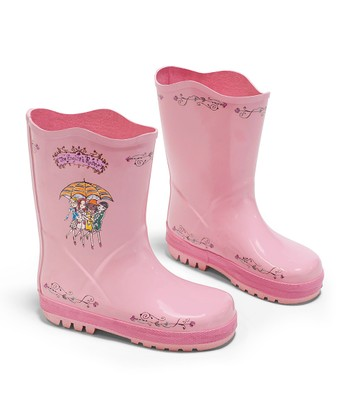 Pink The English Roses Rain Boot