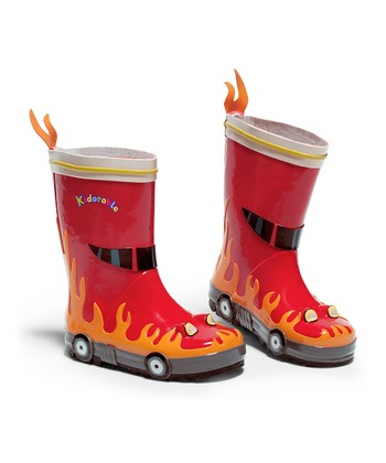 Red Firefighter Rain Boot