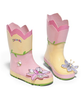 Pastel Yellow Lotus Rain Boot