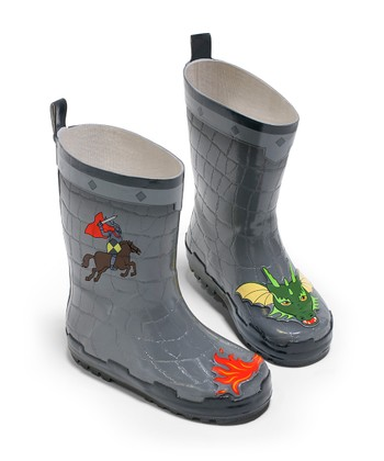 Gray Knight Rain Boot