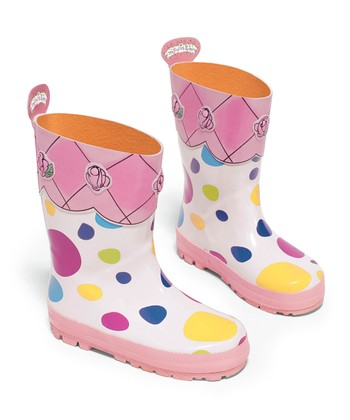 Pink Polka Dot The English Roses Rain Boot