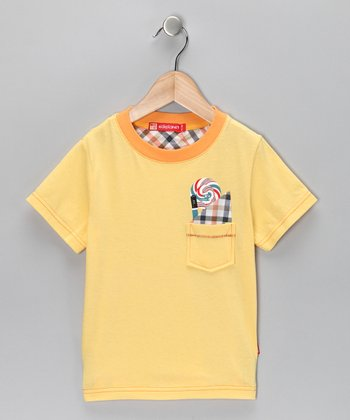 Yellow Gingham-Pocket Tee - Infant, Toddler & Boys
