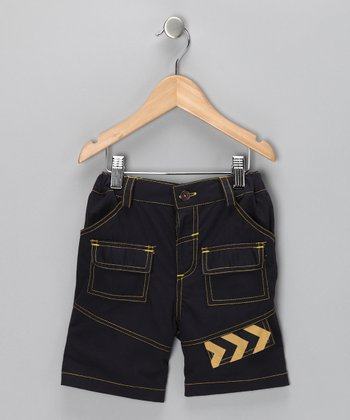 Navy Arrow Utility Shorts - Boys