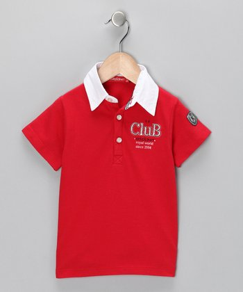 Red 'Club' Polo - Infant