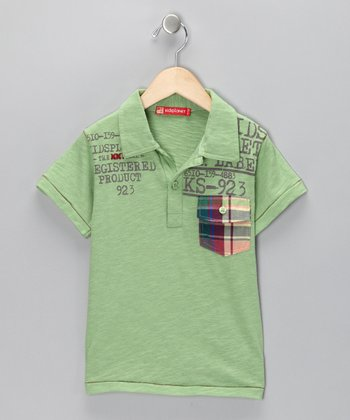 Green 'KS' Polo - Toddler & Boys