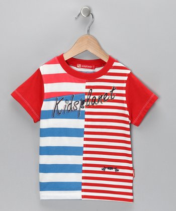 Red & Blue Stripe Tee - Infant & Toddler