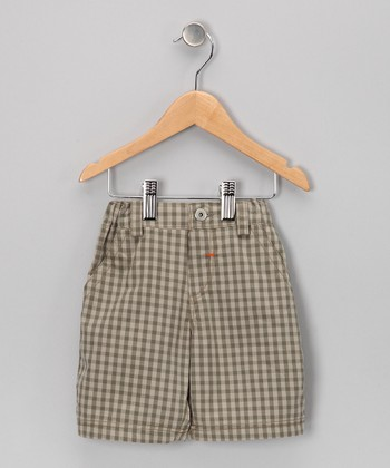 Brown Gingham Shorts - Infant, Toddler & Boys