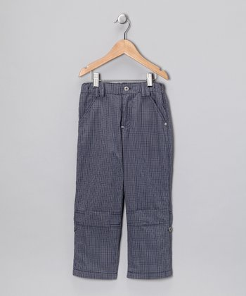 Blue Plaid Convertible Pants - Infant & Boys