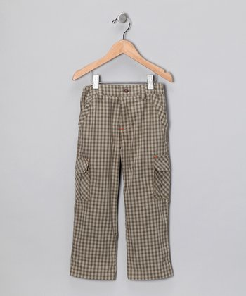 Brown Gingham Cargo Pants - Infant & Toddler