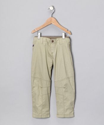 Khaki Panel Pants - Infant