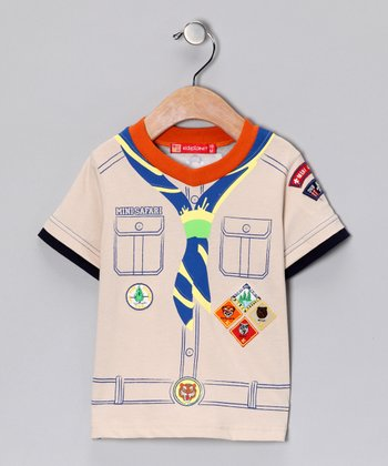 Tan 'Mini Safari' Shirt - Infant