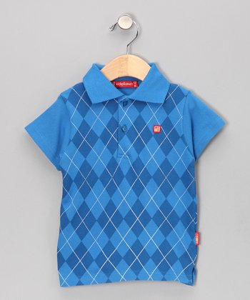 Blue Argyle Polo - Infant, Toddler & Boys
