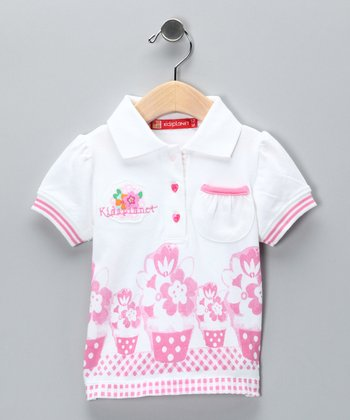 White Patio Polo - Infant
