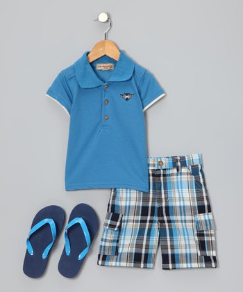 Blue Polo Set - Toddler