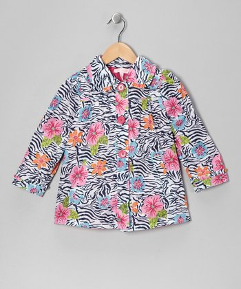 Zebra Floral Jacket - Girls