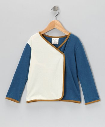 Indigo & Cream Organic Wrap Jacket - Infant & Toddler