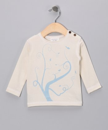 White Swirly Tree Organic Tee - Infant, Toddler & Kids
