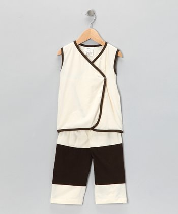 Natural Organic Wrap Top & Cuff Pants - Infant & Toddler