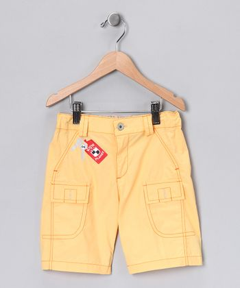 Yellow Cargo Shorts - Boys