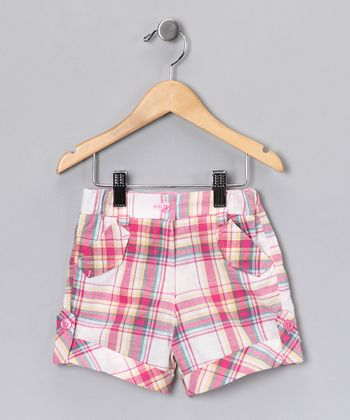 Pink Plaid Shorts - Toddler & Girls
