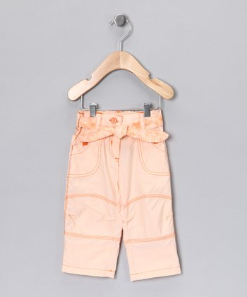 Apricot Tie Pants - Infant & Girls